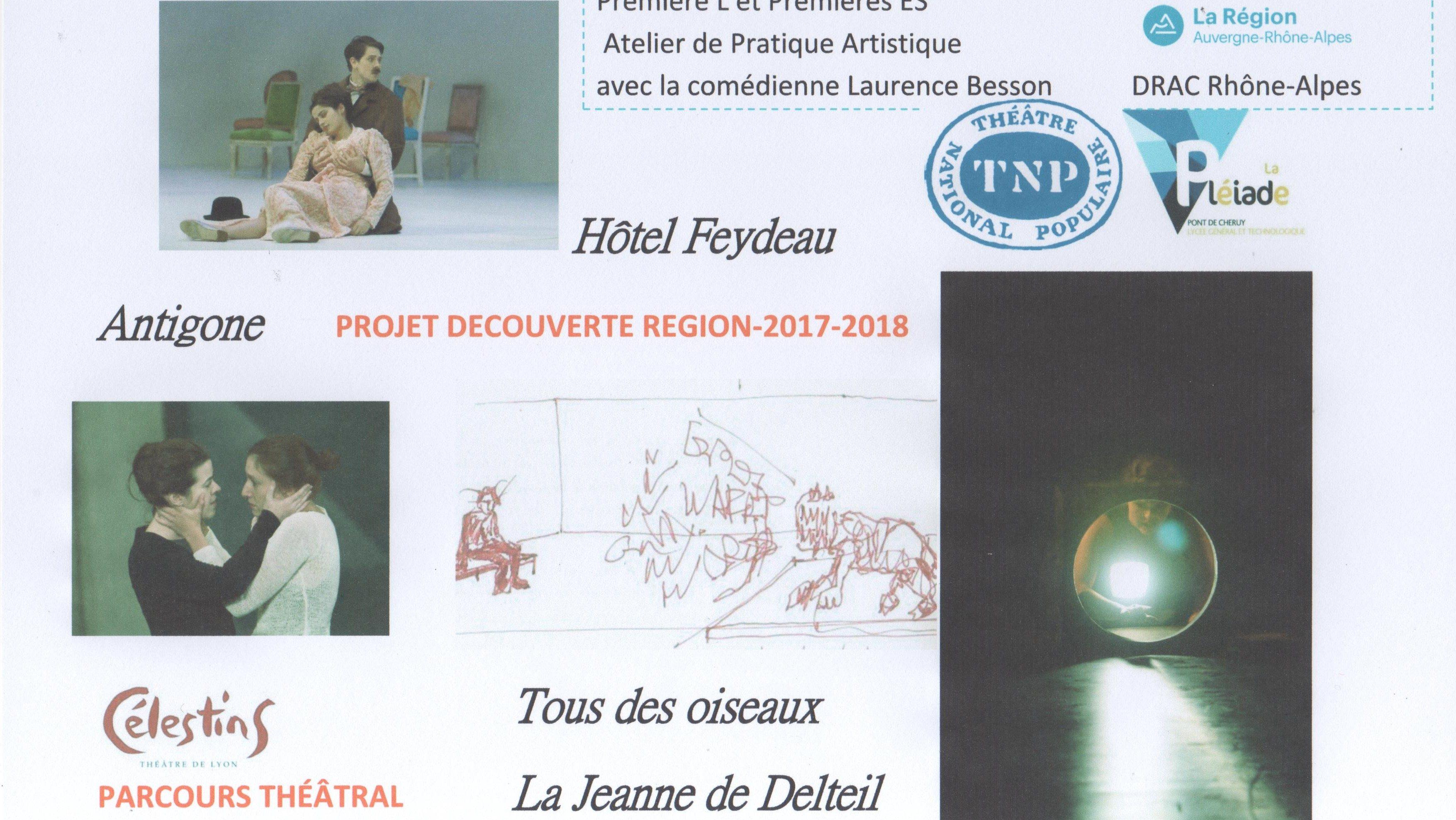 Parcours théâtral projet Découverte Région 2017-2018