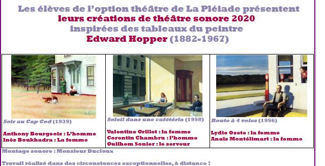 Créations sonores de juin 2020, Option Théâtre_ M. B. Ducloux